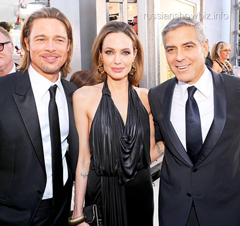 Брэд Питт, Анджелина Джоли и Джордж Клуни