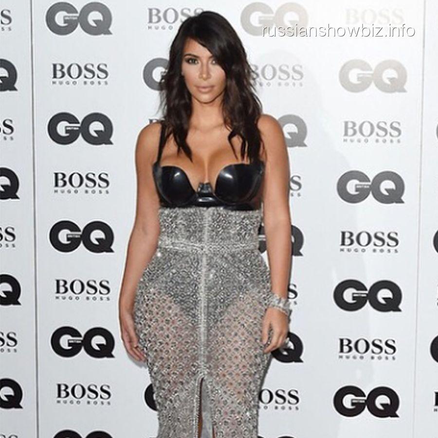 Ким Кардашьян на премии журнала GQ