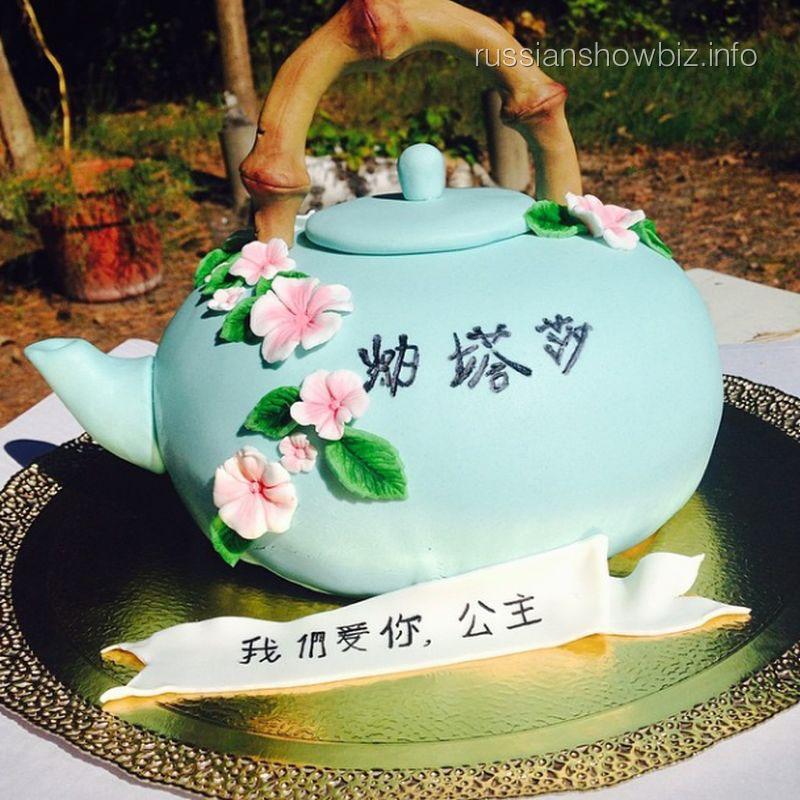 Торт-чайник Алисы Гребенщиковой