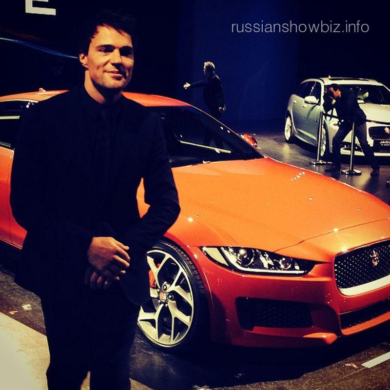 Данила Козловский на презентации Jaguar XE