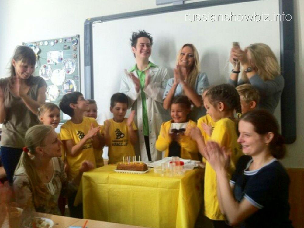 Дана Борисова на детском празднике