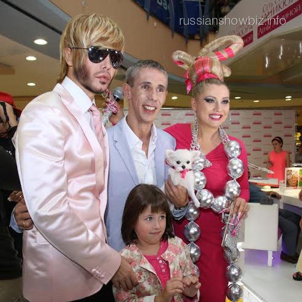 Сергей Зверева, Лена Ленина и Алексей Панин с дочкой