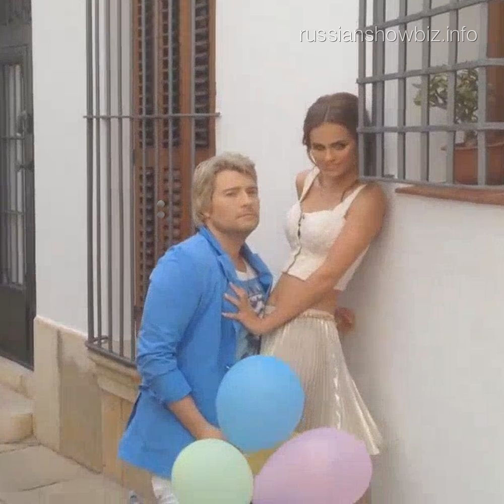 Николай Басков и Ксения Дели на съемках клипа (фото - Super)