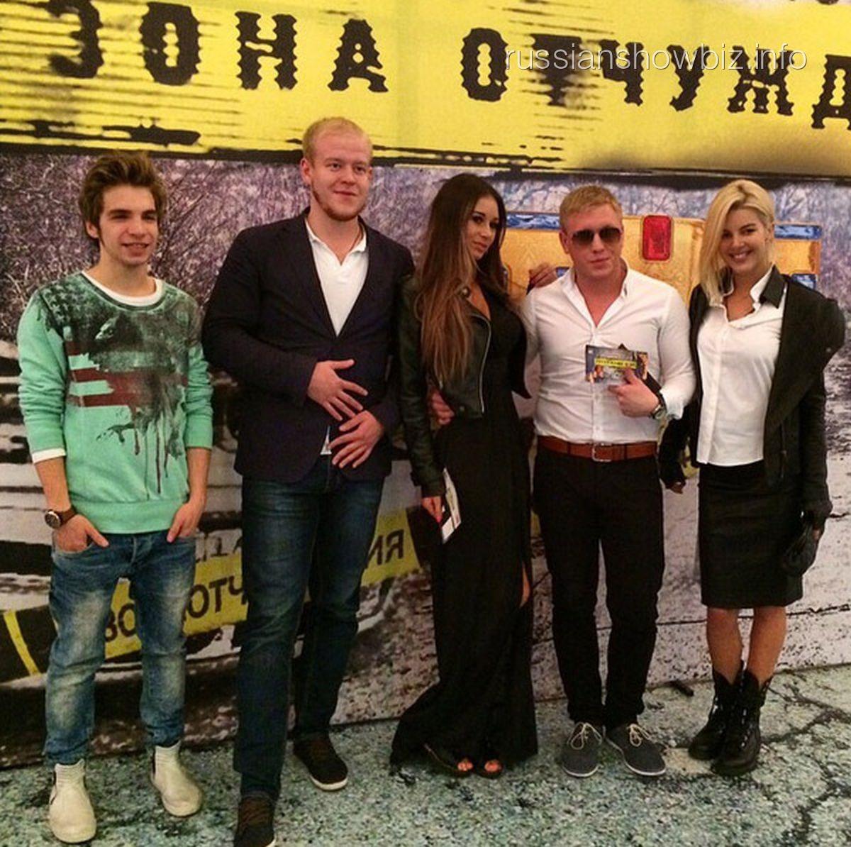 Андрей Крыжний и Диана Мелисон на премьере фильма