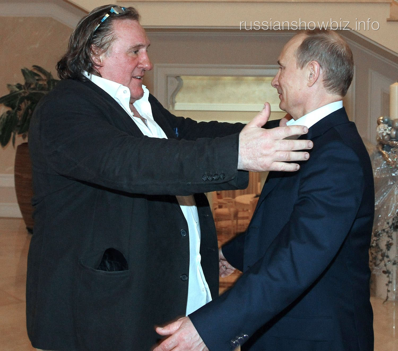 Жерар Депардье и Владимир Путин
