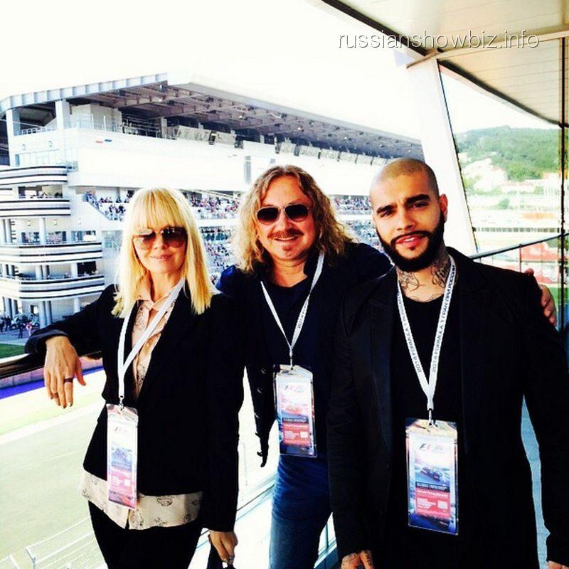 Валерия, Игорь Николаев и тимати на Формуле-1