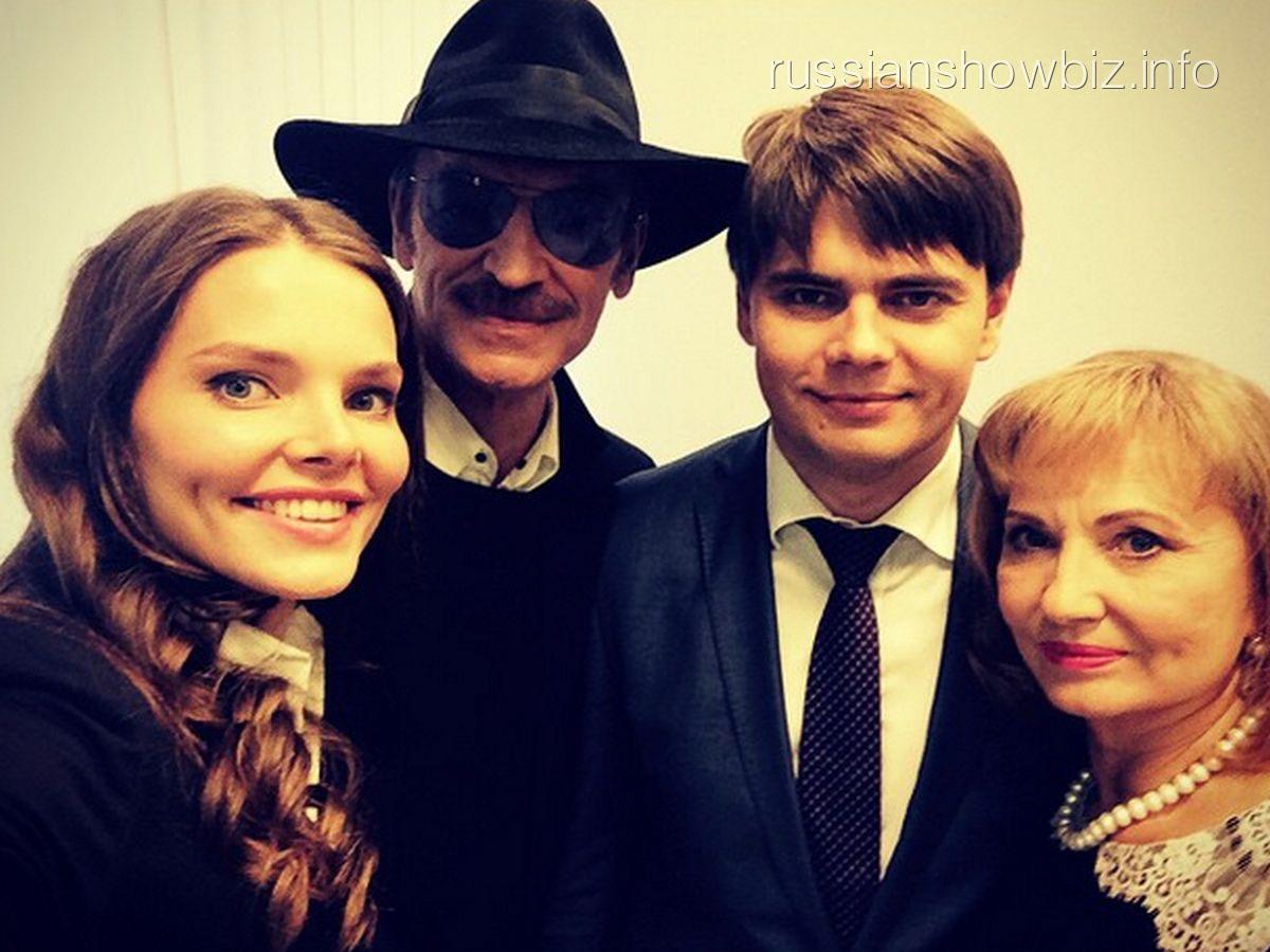 Лиза Боярская, Михаил Боярский, Максим Матвеев и Лариса Луппиан