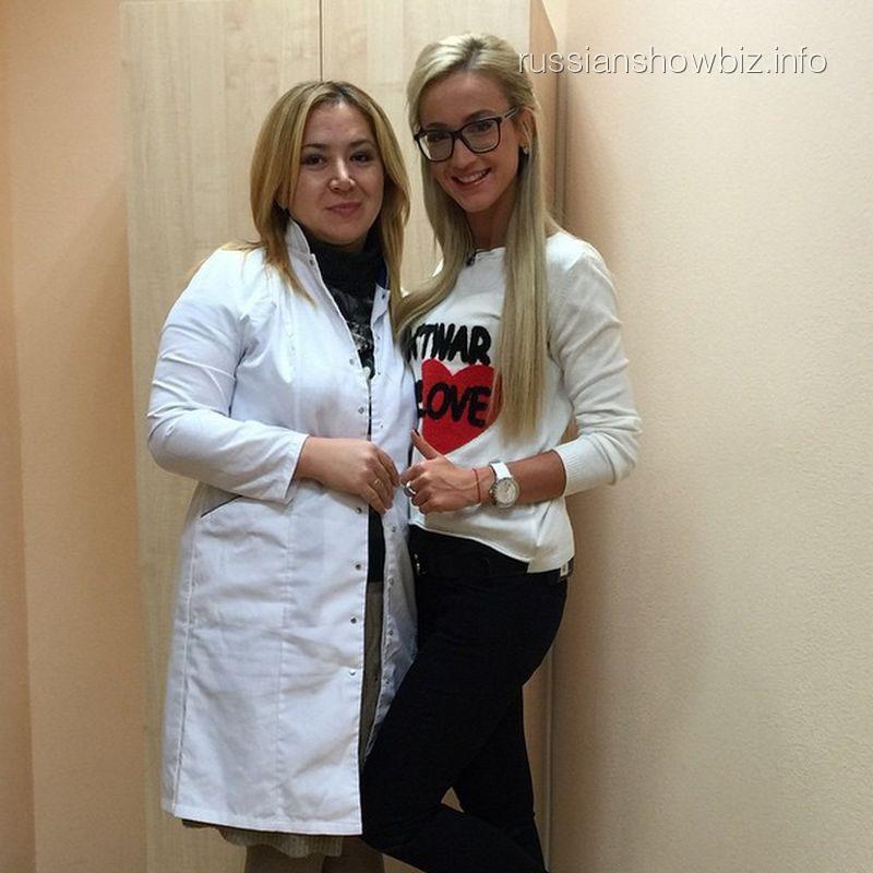 Ольга Бузова с врачом