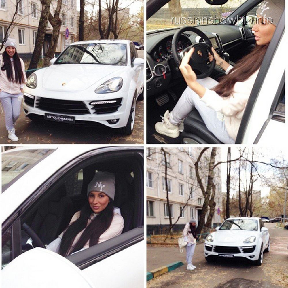 Анна Грачевская и подаренный ей автомобиль