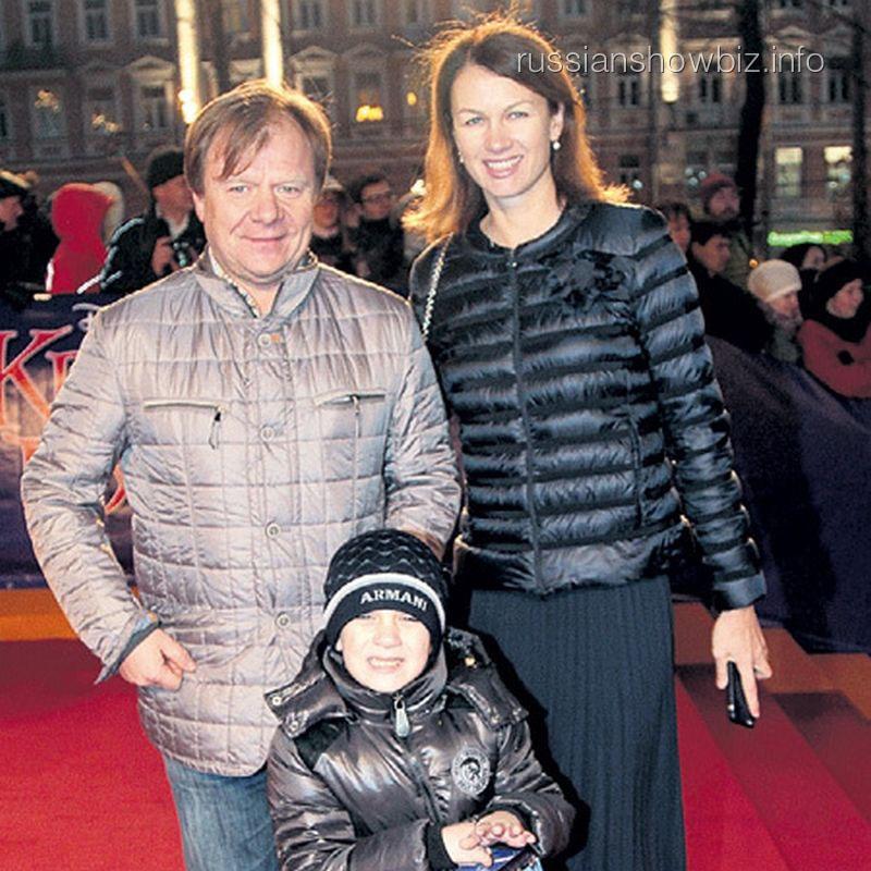 Игорь Бутман с женой и сыном