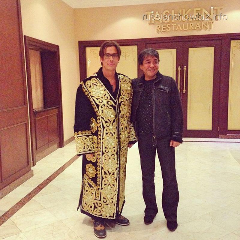 Максим Галкин с организатором концерта Эльдором Усмановым