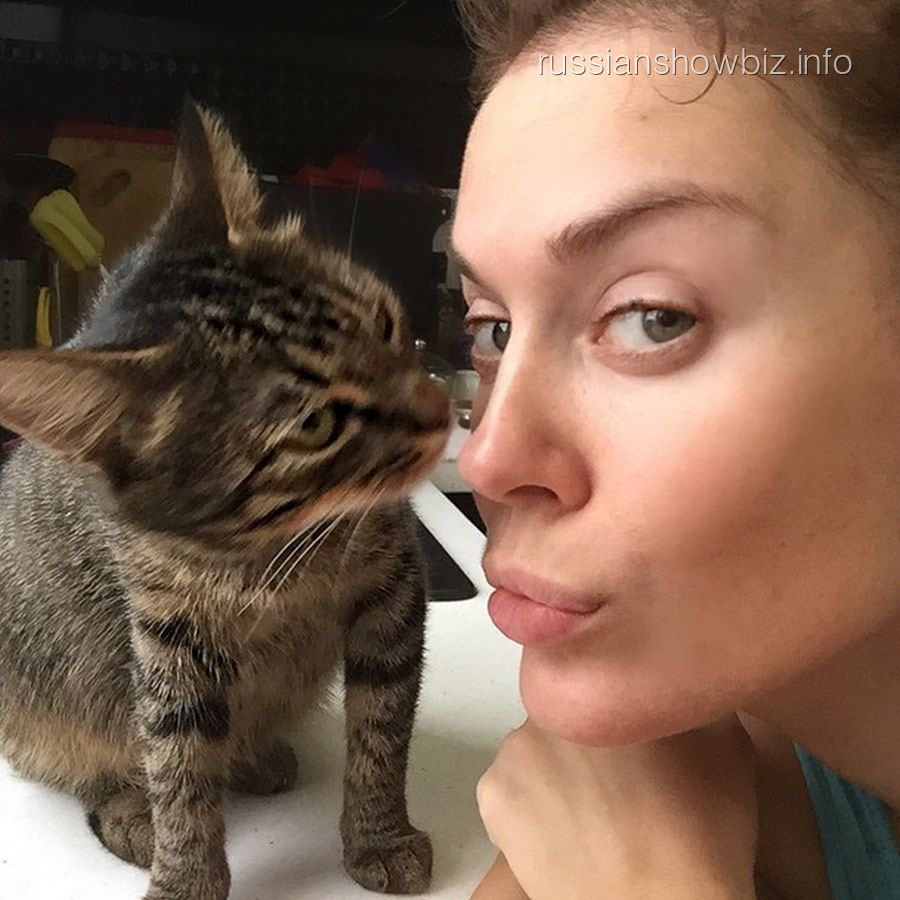 Татьяна Терешина с кошкой