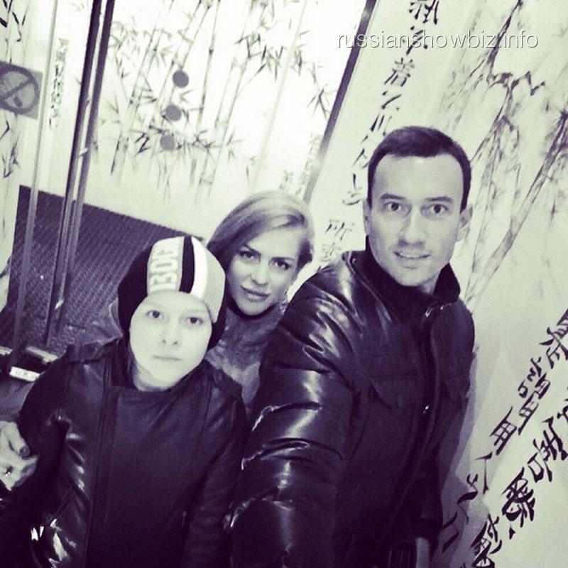 Михаил Терехин с бывшей женой и сыном