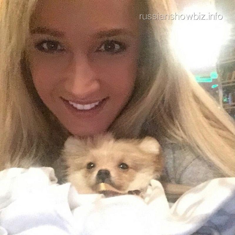 Ольга Бузова с собачкой