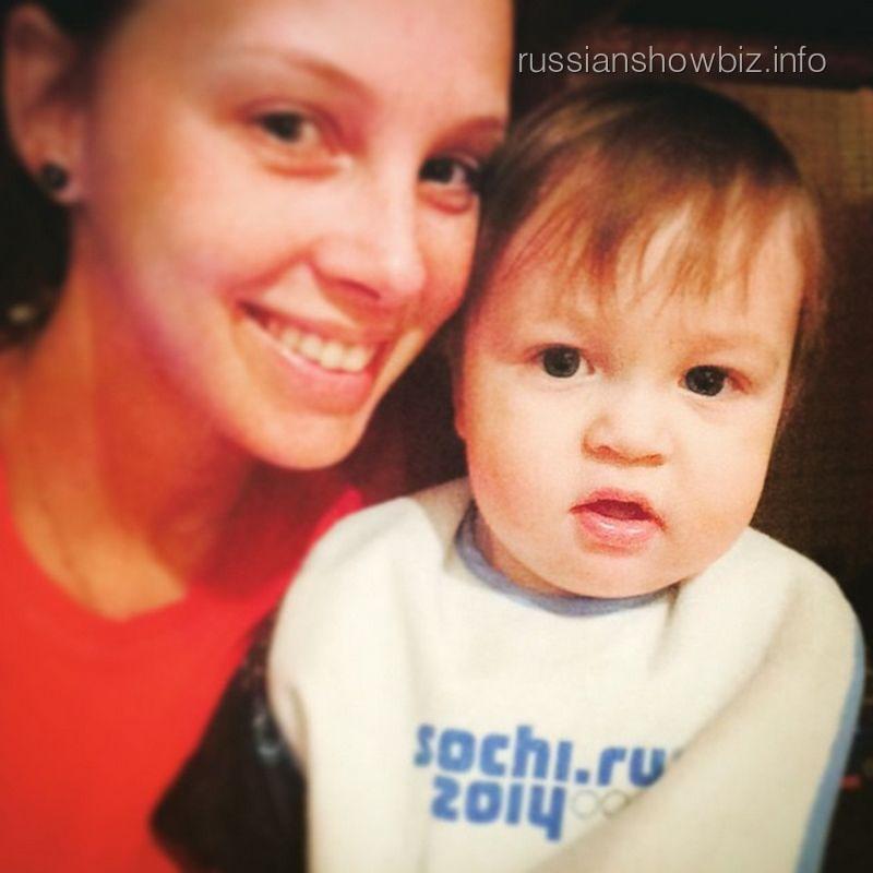 Полина Диброва с сыном