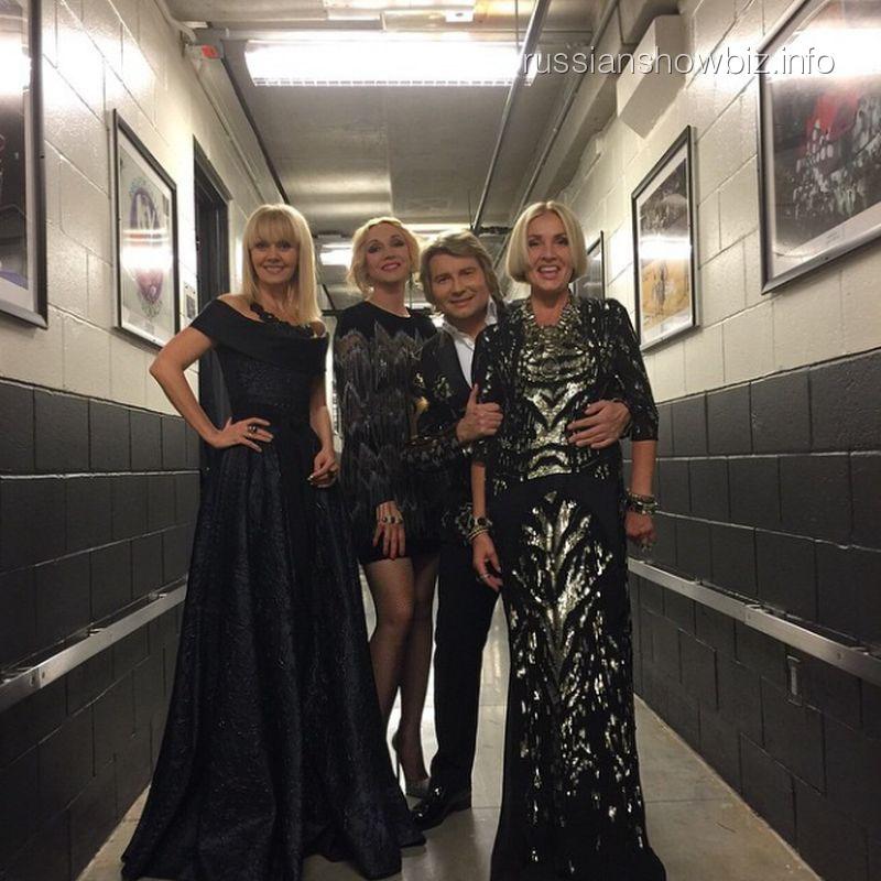 Валерия, Кристина Орбакайте, Николай Басков и Лайма Вайкуле на юбилейном вечере Игоря Крутого в Нью-Йорке