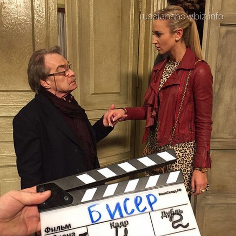 Ольга Бузова на съемках фильма