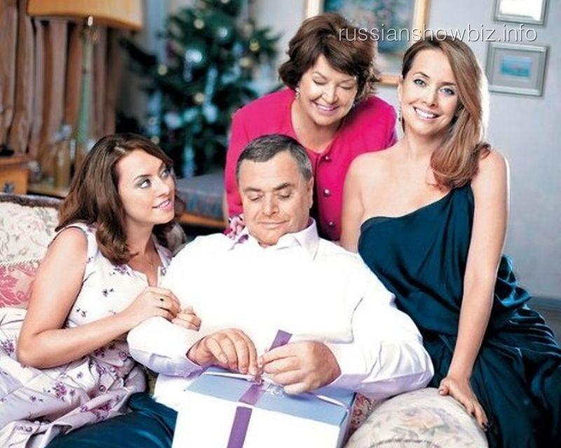 Жанна Фриске с семьей