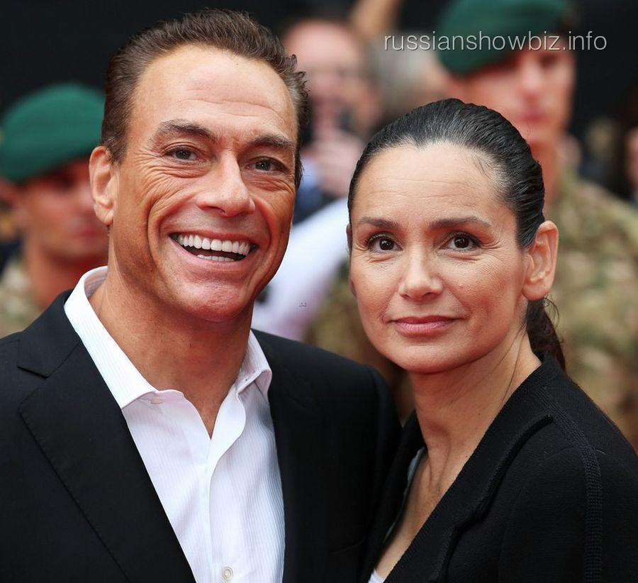 Жан-Клод Ван-Дамм с супругой