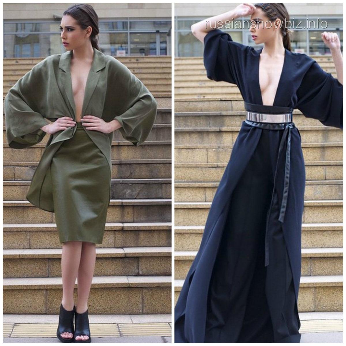 Кети Топурия в платьях своей новой коллекции