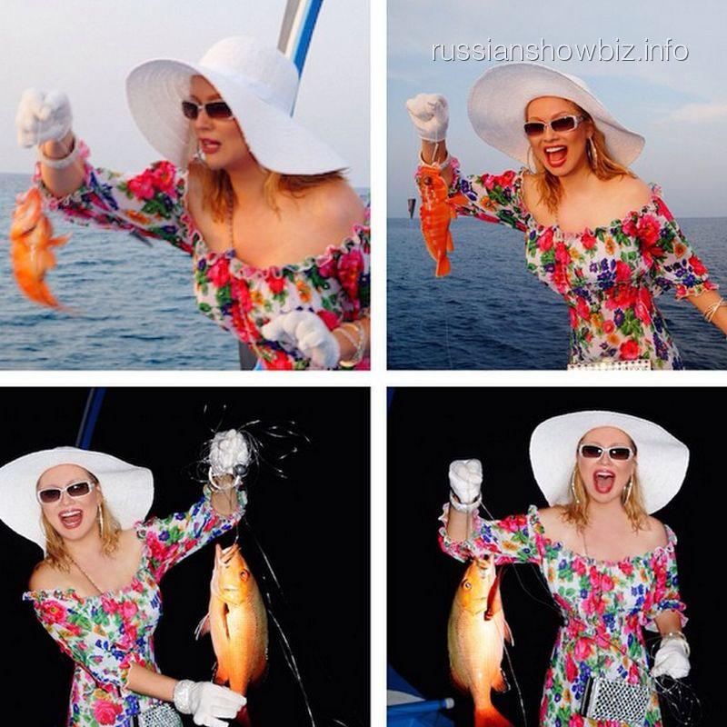 Лена Ленина на рыбалке