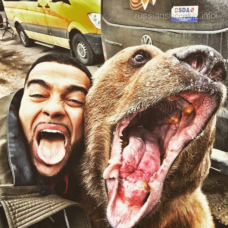 Тимати с медведем