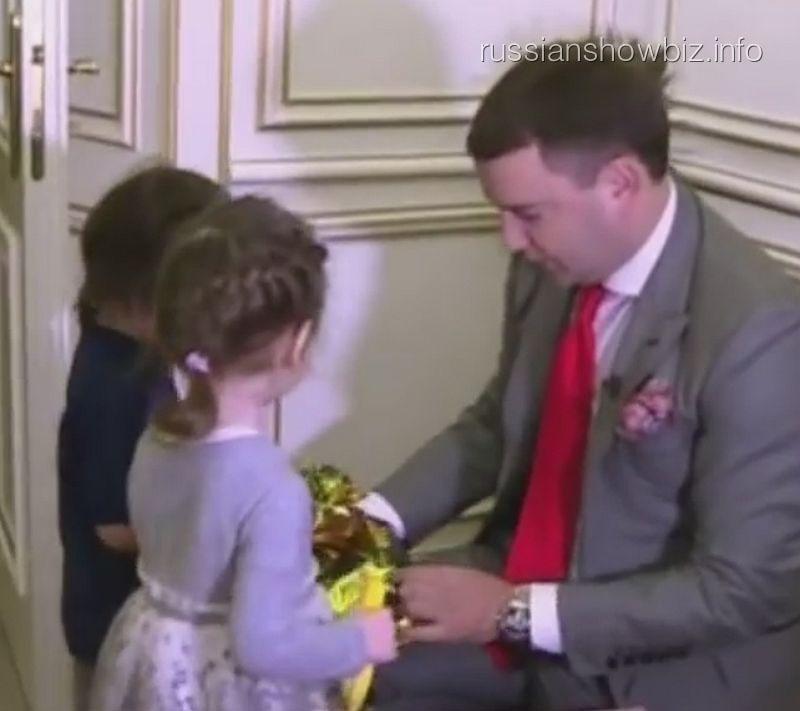 Леонид Закошанский с детьми Филиппа Киркорова