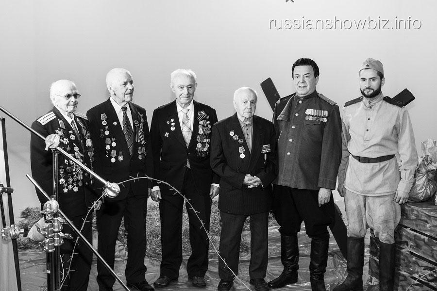 Иосиф Кобзон и Иракли Пирцхалава в ветеранами