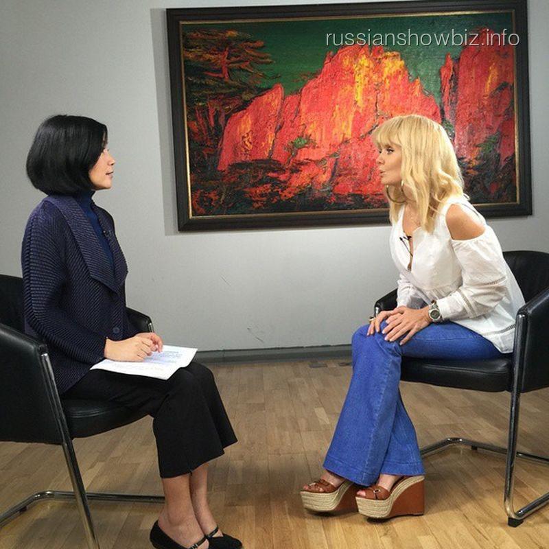 Валерия на шанхайском телевидении