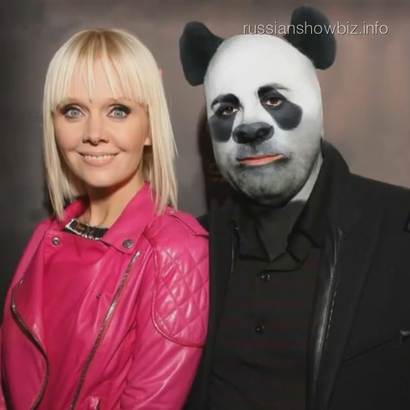 Валерия и Иосиф Пригожин в образе большой панды