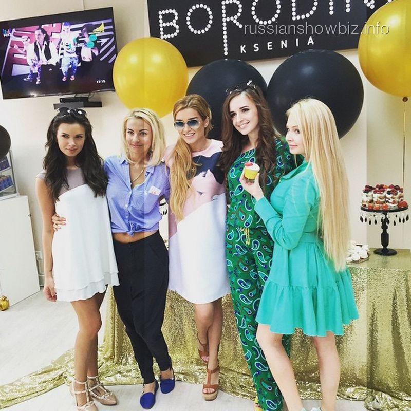 Ксения Бородина на открытии салона красоты
