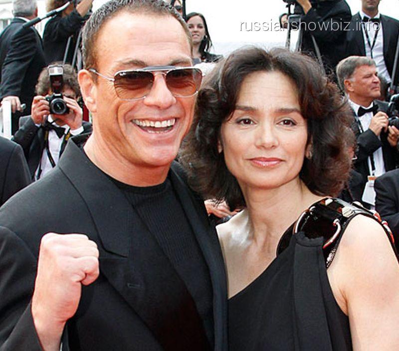 Жан-Клод Ван Дамм с женой