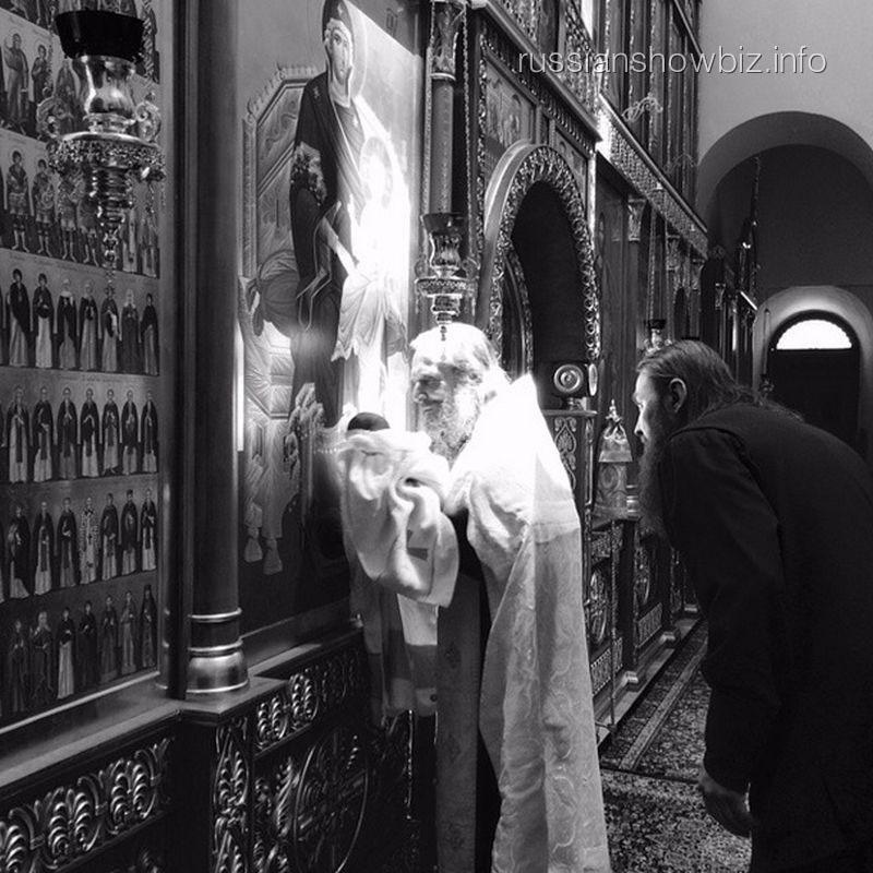 Крещение сына Антона и Виктории Макарских
