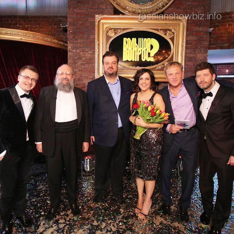 Василий Уткин и Ольга Шелест на съемках передачи «Большой вопрос»