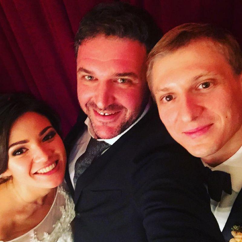 Максим Виторган с племянницей и ее супругом