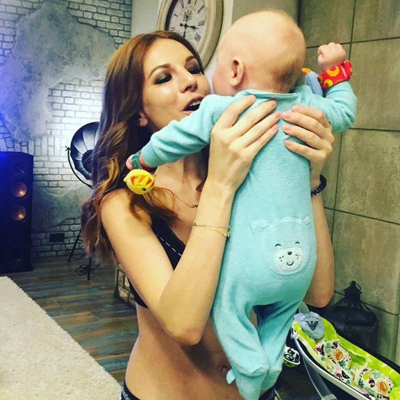 Наалья Подольская с сыном