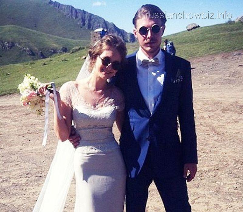 Никита Ефремов с женой