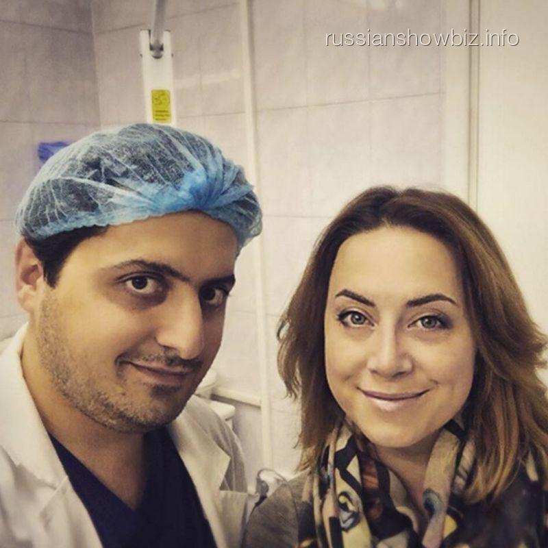 Наталья Фриске с пластическим хирургом