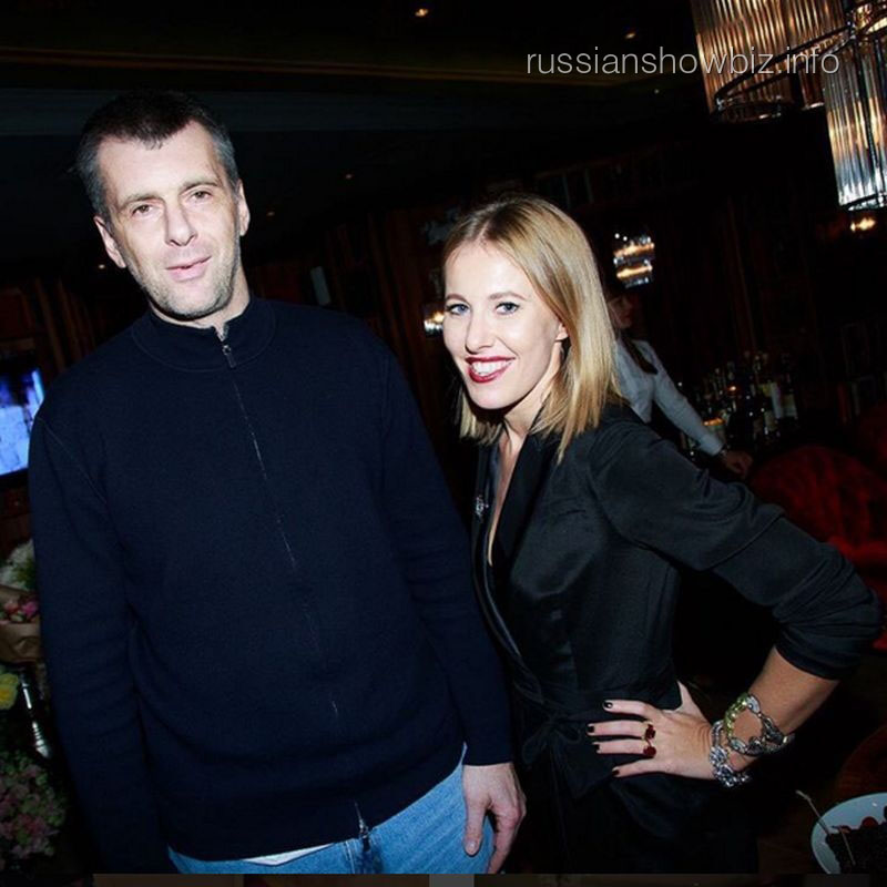 Михаил Прохоров и Ксения Собчак