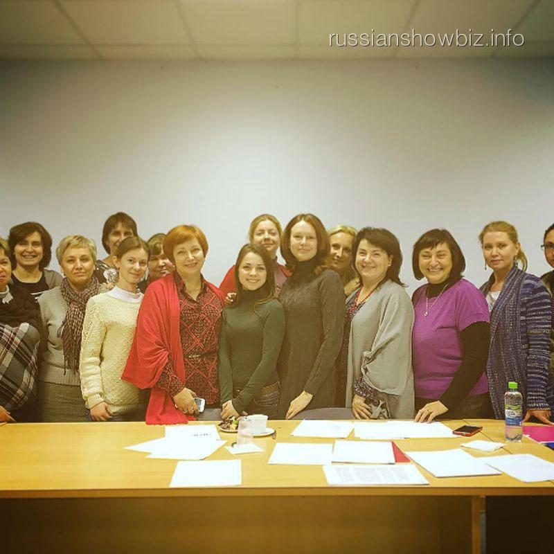 Ирина Безрукова со студентами