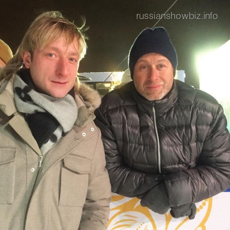 Евгений Плющенко и Роман Абрамович