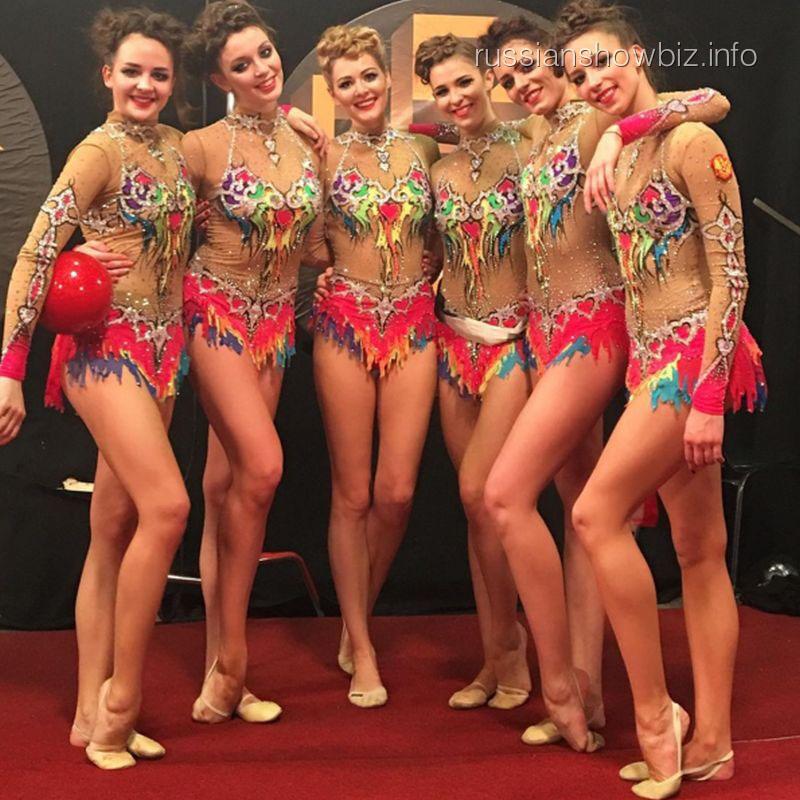 Мария Кожевникова в составе сборной Москвы по художественной гимнастике