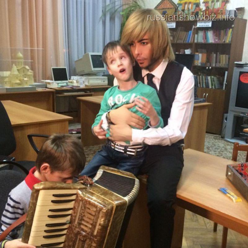 Сергей Зверев с детьми