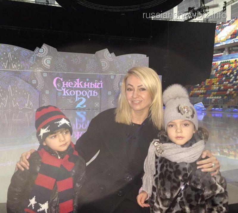 Яна Рудковская с детьми Киркорова
