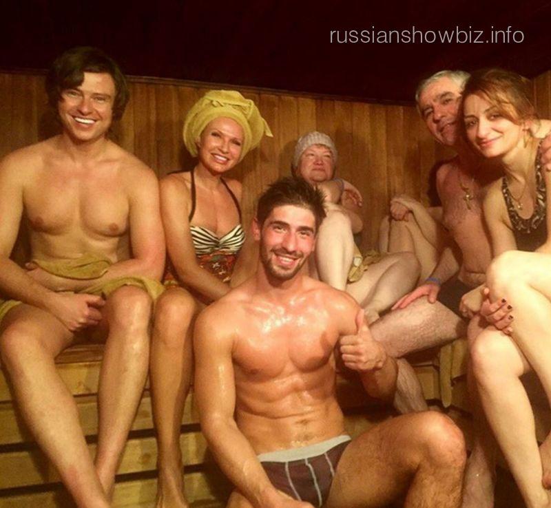 Прохор Шаляпин и Эвелина Бледанс в бане