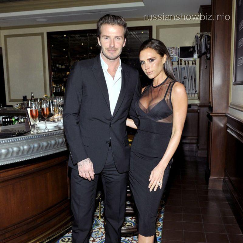 Дэвид Бекхэм с женой