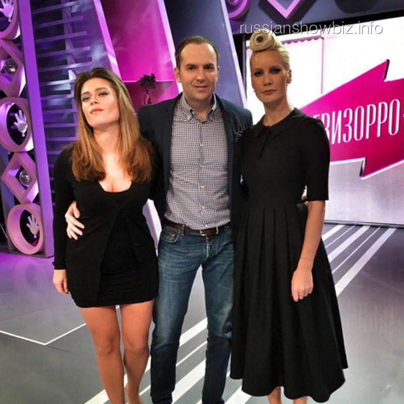 Елена Летучая на съемках шоу