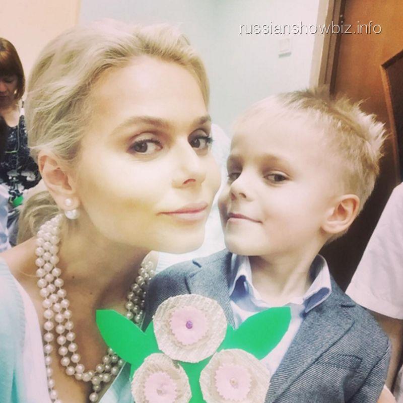 Ксения Новикова с сыном