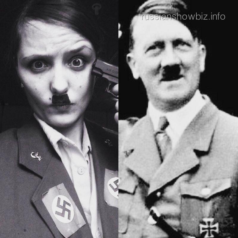 Наталья Краско в образе Гитлера