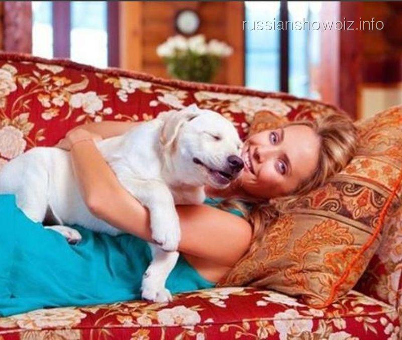 Жанна Фриске с псом